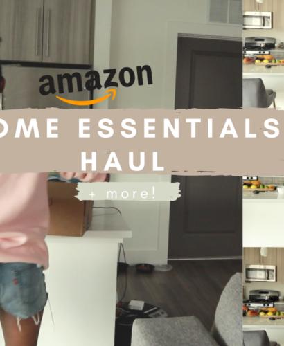amazon home essentials apartment haul