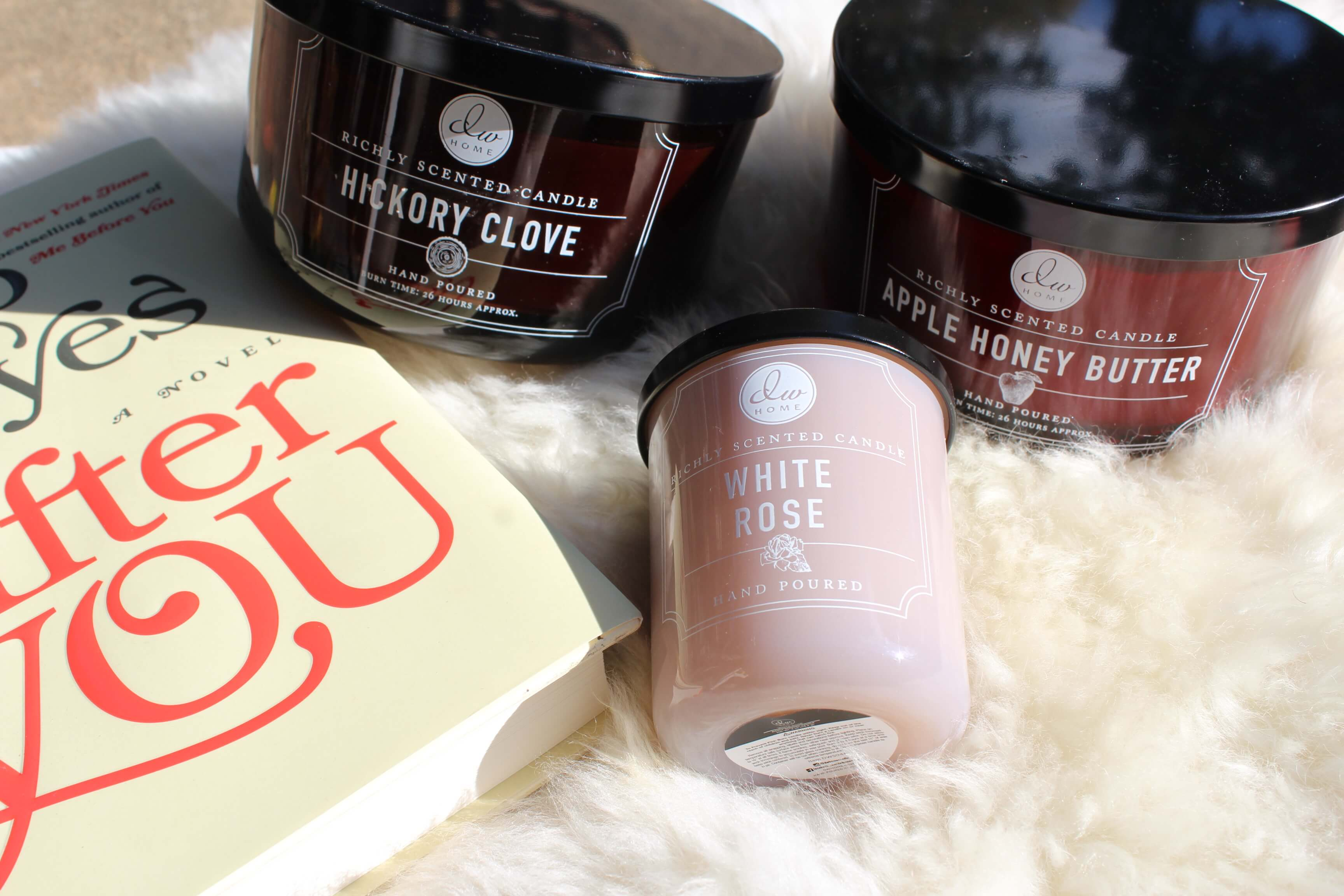 dw home candles flatlay